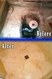 Shower Drain and Floor